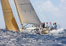 J/122 Lost Horizon- sailed by Jim Dobbs from Antigua- St Maarten Heineken Regatta
