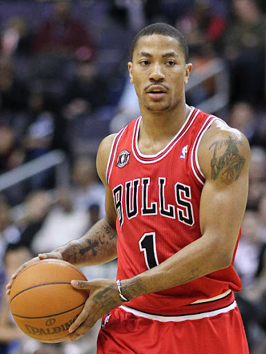 derrick rose tattoos on arm. derrick rose tattoos neck.