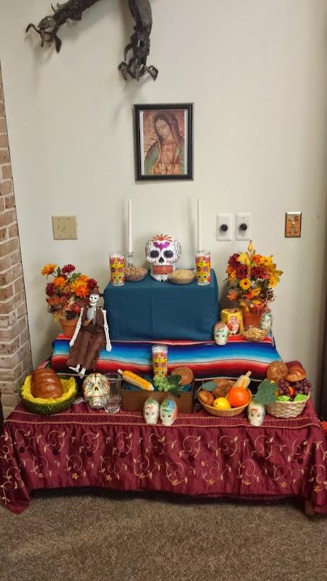 Altar Dia de los Muertos UTPA Dispaly