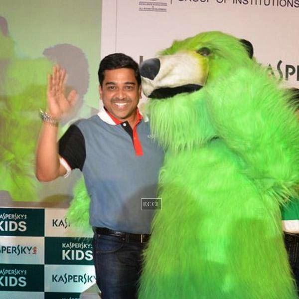 A guest during Kaspersky Kids awareness programme, held at Ryan International School, on July 23, 2014. (Pic: Viral Bhayani)