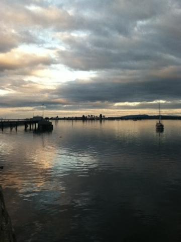 Sunset over water in Comox