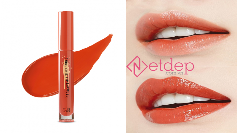 Son Etude House x Red Velvet Shine Chic Lip Lacquer OR203 Vintage Carrot