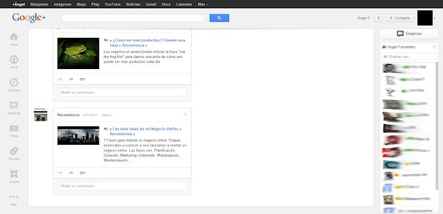 #whitespace google plus recomienza