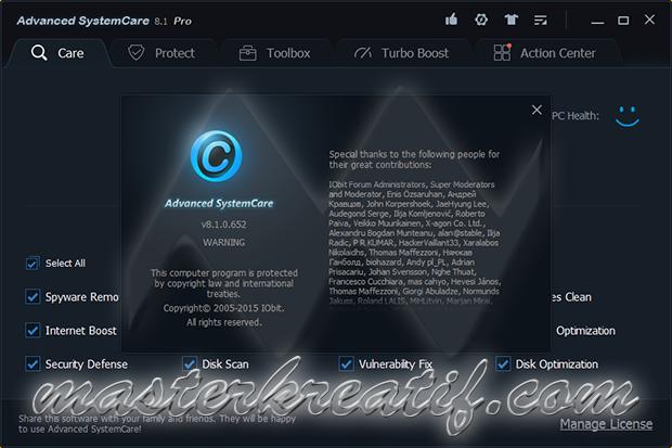 Advanced SystemCare Pro 8.1 Full Version | MASTERkreatif