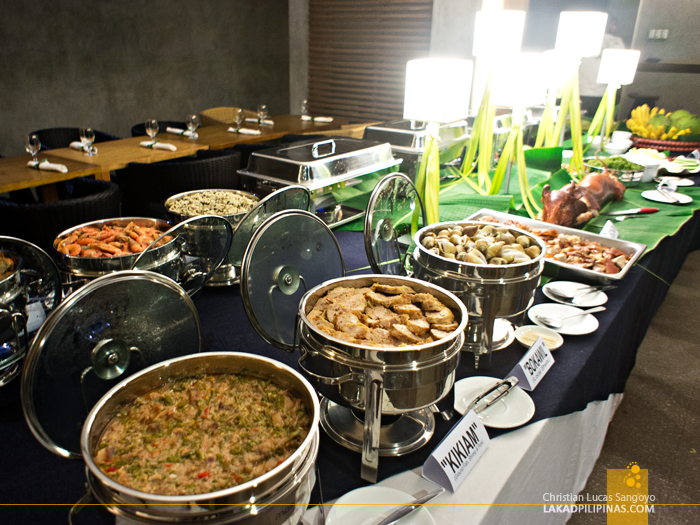 The Buffet Table at Sorsogon's Siama Hotel