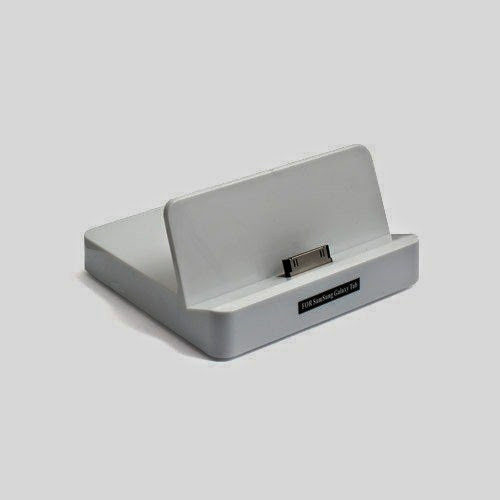 System-S White Dockingstation Cradle for Samsung Galaxy Tab