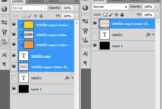Achate as camadas que foram geradas após usar o comando Create Layers