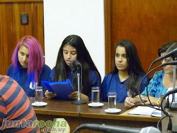 Sesión solemne con motivo de los veinte años del liceo Nro. 2 Prof. Rosalío Pereyra
