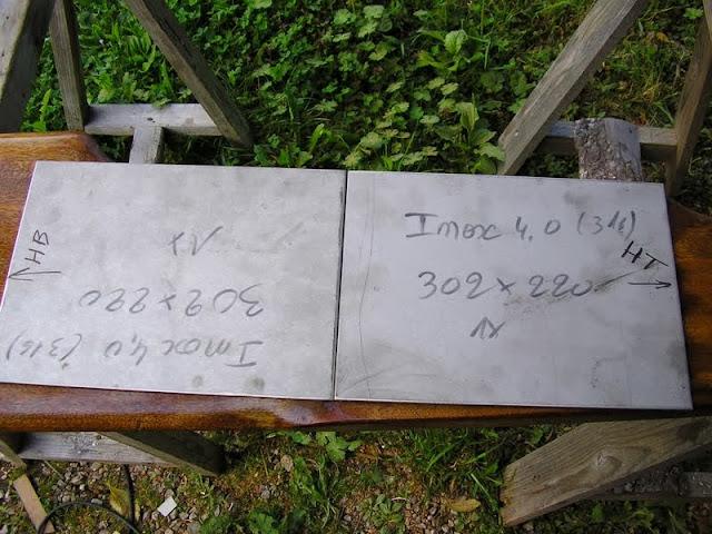 Les plaques inox