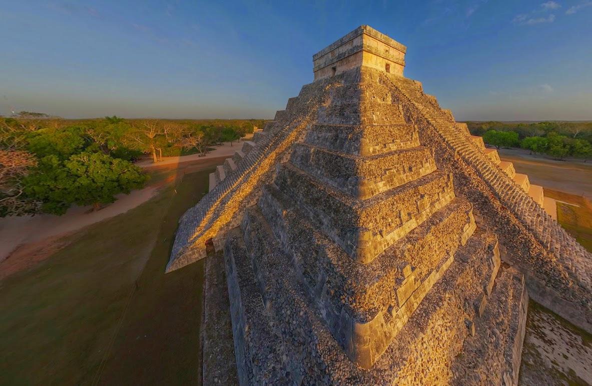 Пирамиды Майя, Чичен-Ица, Мексика • 360° Аэрофотопанорама