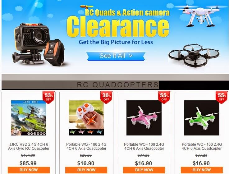 GearBest: Распродажа на RC & Action camera!!  Самая низкая цена!! Еще конкурс ждет вас!!