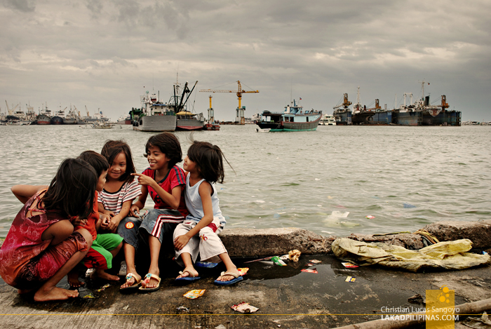 Kids Having a Ball at the Navotas Fish Port