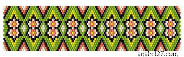 Схемы для плетения браслета из бисера мозаикой