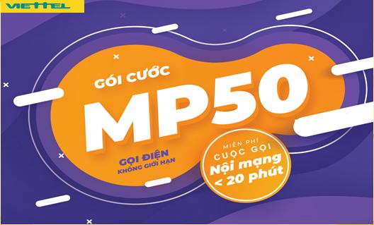 Miễn phí Gọi Nội mạng chỉ 50.000đ Gói MP50 Viettel