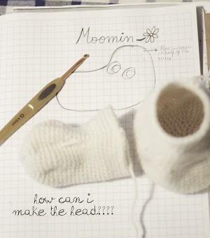 sketch of the amigurumi moomin