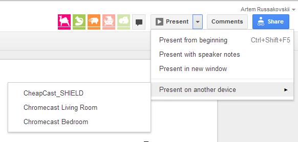 Google Presentations Chromecast