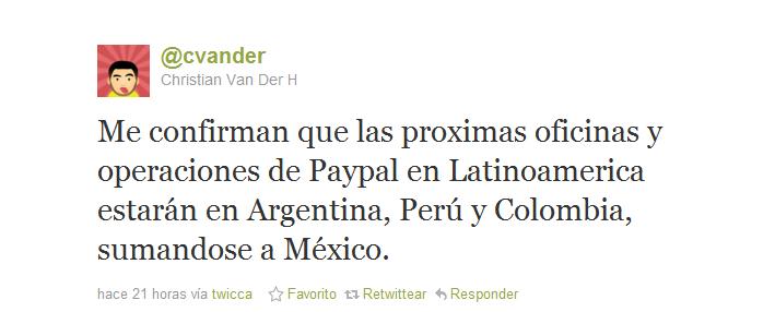 Paypal llegará oficialmente a Colombia en el 2012