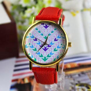 Geneva Quartz clock Cartoon Leather Strap Watches Retro