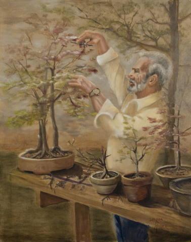 """Large Bonsai"" by artist Sharon Hopper."