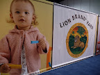 The Lion Brand Booth at the Convention- Did you see the story on Lion Brand in our January issue of Living?