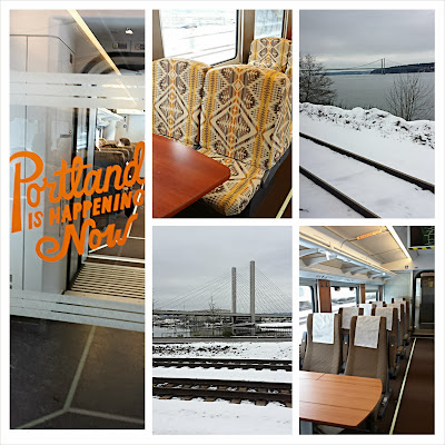 Travel by Train via Amtrak, our escape from Snowpacalypse PDX for Seattle
