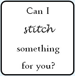 Can I Stitch Something for You?