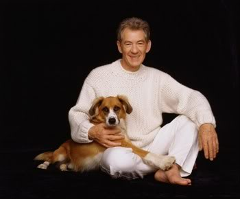 Ian Mckellen and a dog again
