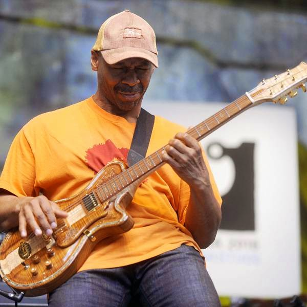 US guitarist Kevin Eubanks performs during the fourth day of the 49th Jazzaldia Jazz festival of San Sebastian, north of Spain, on July 26, 2014.