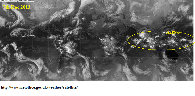 active ITCZ 7th dec 2013