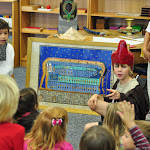 These Montessori elementary students are excited to share their play about Egypt with their preschool friends.