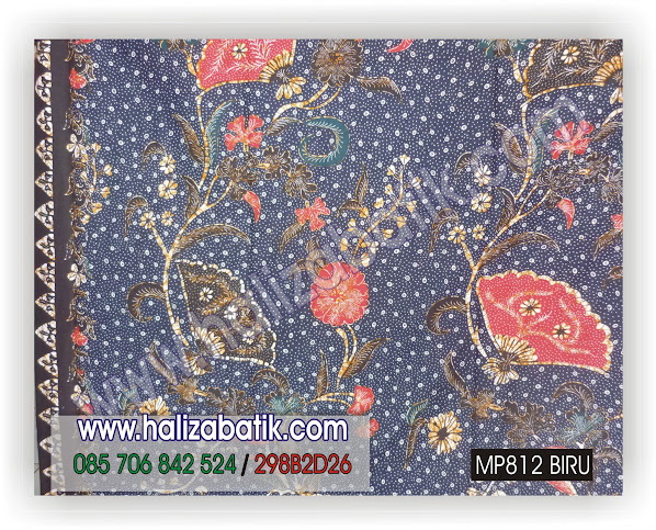 MP812+BIRU Gambar Kain Batik, Model Batik, Motif Batik, MP812 BIRU