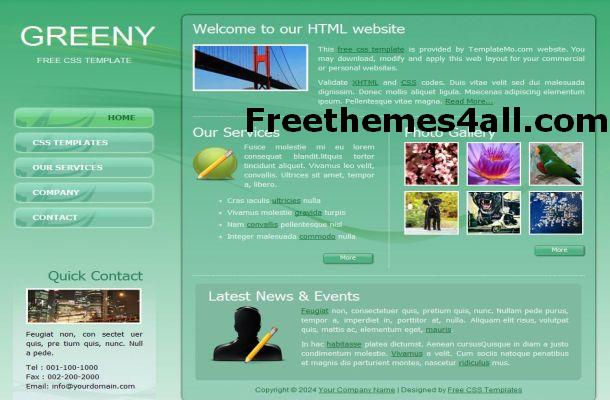 Free Business Green Website Template