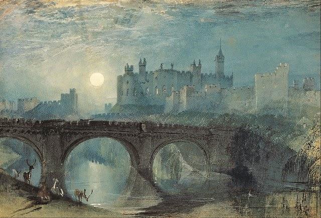 viagens - Passeando por caminhos Celtas - 2014 - Página 6 800px-J.M.W._Turner_-_Alnwick_Castle_-_Google_Art_Project