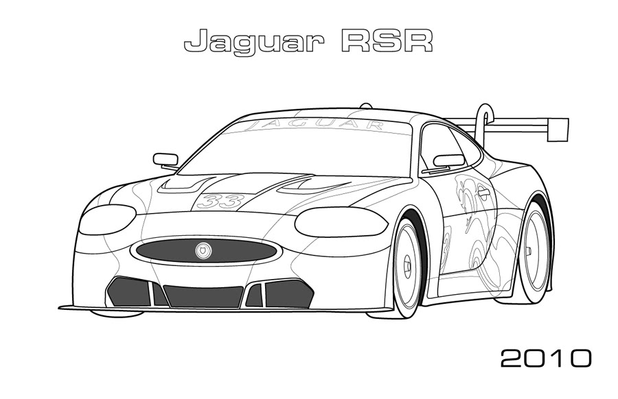 Jaguar RSR Coloring Page