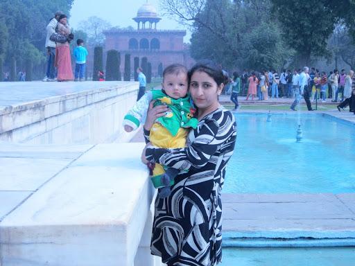 My dearest one.. Atharv with Geetu. — at Taj Mahal