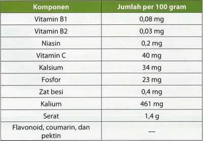 kandungan vitamin buah jeruk