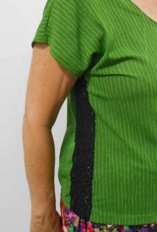 customizando - como aumentar uma blusa na lateral