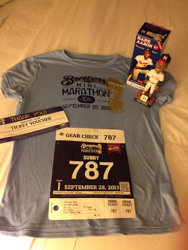 Brewers Mini-Marathon goodie bag