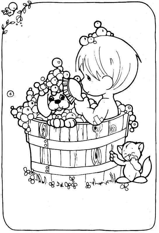precious moments dog coloring pages - photo#15