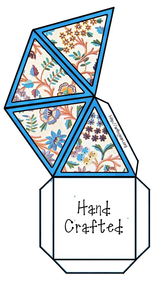Artbyjean vintage indian print printable gift box pyramid printable gift box pyramid negle Images