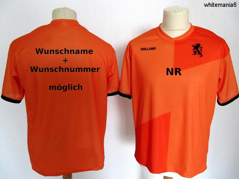 Holland Trikot alle Grössen mit Name Nr möglich zB Lahm David Neuer Maxi Müller