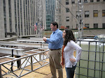 Dan and Arielle up on our balcony. You can see the TODAY show studio building behind them.