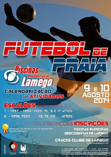 Futebol de praia anima areal das Piscinas Descobertas de Lamego