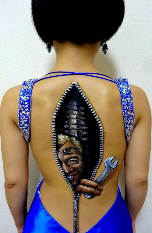 Creative Body Art by Hikaru Cho  Alternative Science  Articles