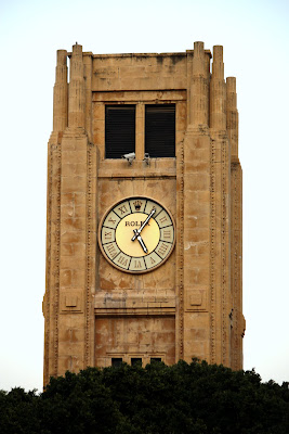 Clock tower with Rolex clock in Place de l'Etoile in Beirut Lebanon