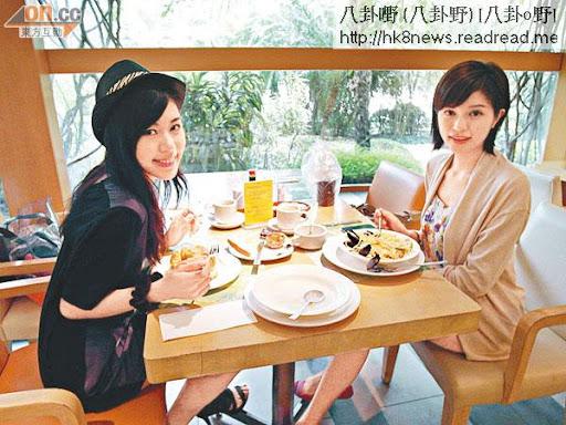毋須再節食的林泳淘(左)和陳潔玲,放心擦餐飽。