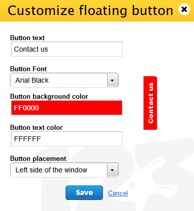 customize floating button