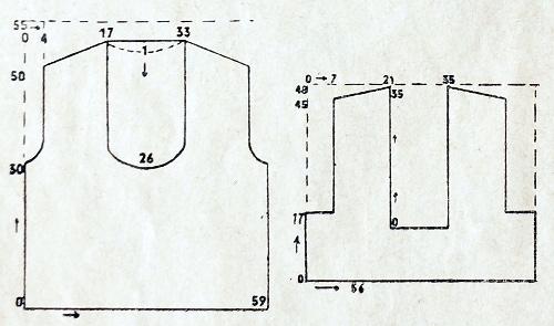 30s crochet vest schematics