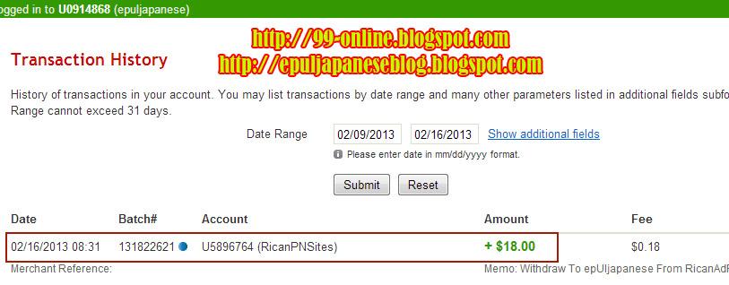 Pembayaran Ke-6 dari RicanAdFunds