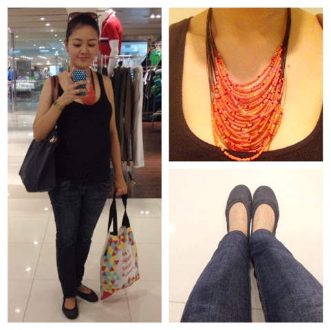 8bed9600 This is my standard shopping/grocery day outfit. Here I wore a black ribbed tank  top from Uniqlo (I like showing off my bump this way hihi), faded low waist  ...